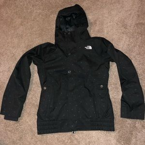 The North Face Winter Jacket Black w/ Dots Small
